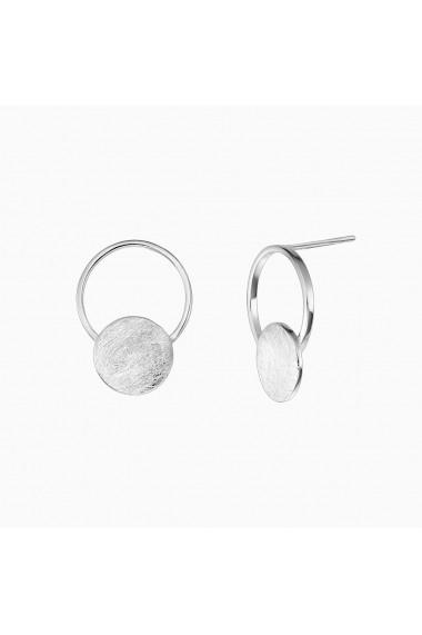 Cercei din argint 925 Manissi Disc Drop Stud