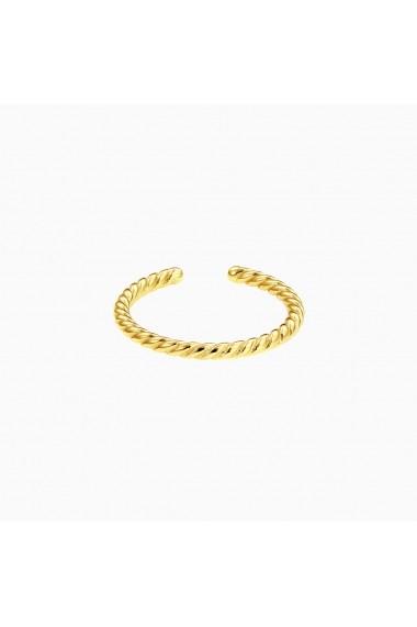 Inel din argint Manissi Middle Twist Gold