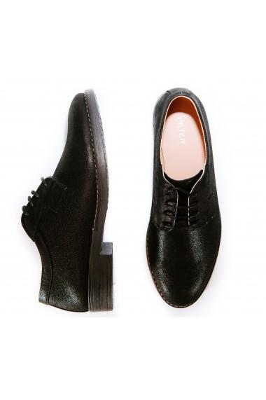 Pantofi Peter 100% Piele Naturala Negri