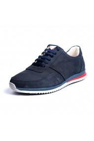 Pantofi sport din piele Pas 10073831 Bleumarin
