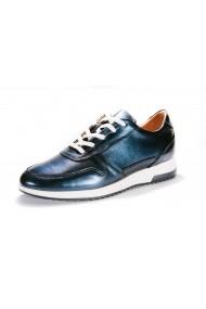 Pantofi sport Peter 100% Piele Naturala Urban Sneakers Blue Sidef