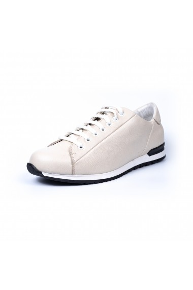 Pantofi sport Modin Urban Sneakers Piele Natura Albi