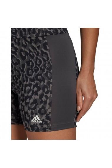 Colanti femei adidas Designed to Move AEROREADY Leopard Print GL4047