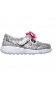 Pantofi sport copii Skechers GOwalk JoyBitzy Bitty 82090N/GYPK