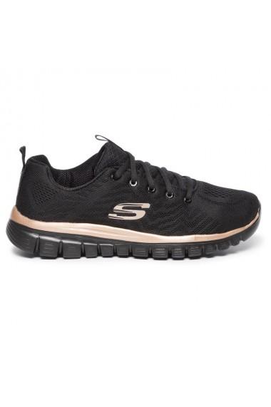 Pantofi sport femei Skechers Get Connected 12615/BKRG