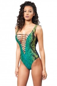 Costum de baie intreg Eternity Snake Green Motivate Store