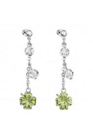 Cercei cu cristale Swarovski FaBOS  Crystal / Green 7440-6337-02