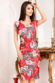 Rochie Felicity Red cu imprimeu floral