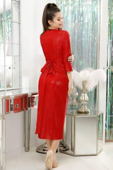 Rochie Addison rosie cu aspect petrecut