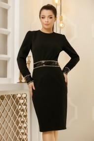 Rochie Maura neagra cu brau si mansete negre din paiete
