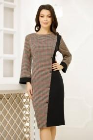 Rochie Dara cu imprimeu pepit si design asimetric