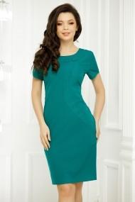 Rochie Brenda verde cu insertii stralucitoare
