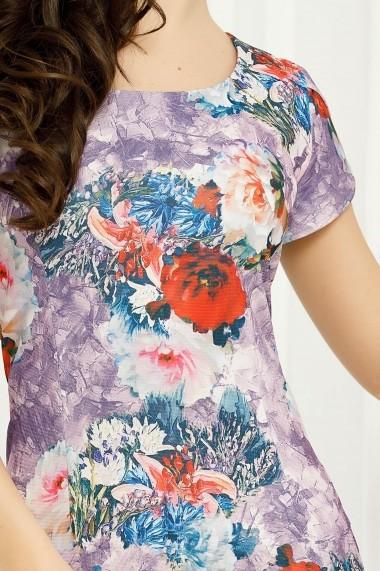 Rochie Felicity lila cu imprimeu floral