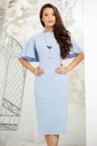 Rochie Nelia bleu pastel cu maneci tip fluture
