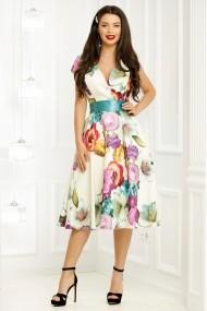 Rochie Alle nude cu imprimeu floral colorat