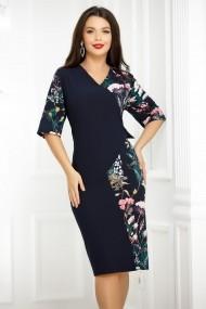 Rochie Kendra bleumarin cu imprimeu floral