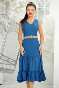 Rochie Rebeca albastra cu volane