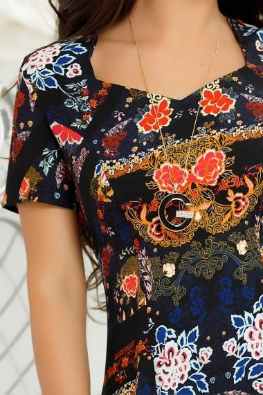 Rochie Amara neagra cu imprimeu colorat