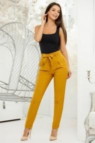Pantaloni Keyla Mustar