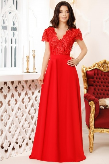 Rochie lunga Ivona Red