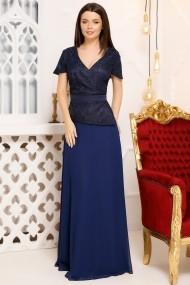 Rochie de seara lunga Ejolie bleumarin