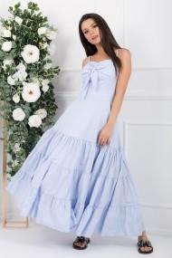 Rochie lunga Florence bleu din bumbac