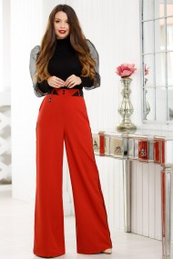 Pantaloni Amara caramizii