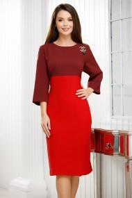 Rochie Soledad rosie cu bluza bordo