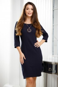 Rochie de zi midi Ejolie bleumarin