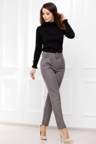 Pantaloni Viviana gri din stofa