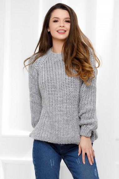 Pulover Ada gri din tricot