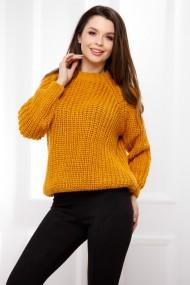 Pulover Ada galben-mustar din tricot