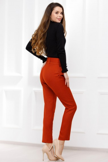 Pantaloni Viviana orange din stofa