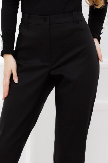 Pantaloni Catinca negri din stofa