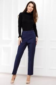 Pantaloni Catinca bleumarin din stofa