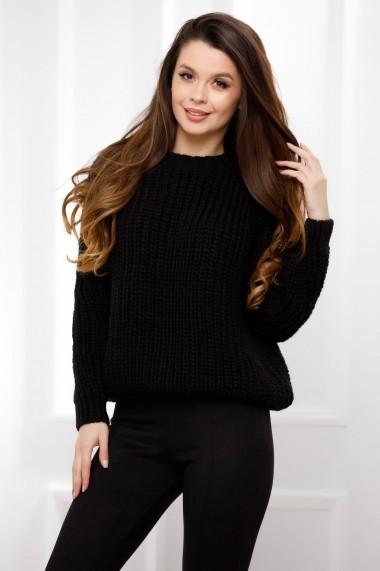 Pulover Ada negru din tricot