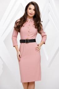 Rochie Dariela roz cu nasturi aurii