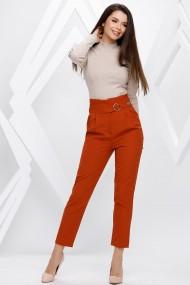 Pantaloni Ellen portocalii cu accesorii pe talie