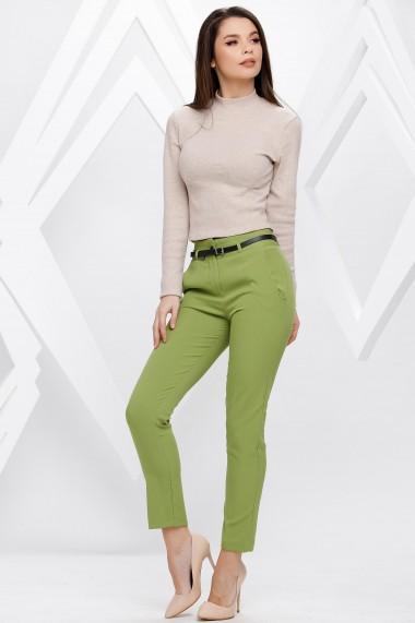 Pantaloni Yara verde deschis