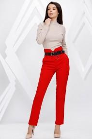 Pantaloni Leia rosii cu centura neagra