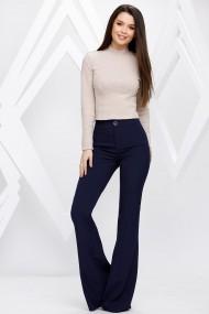 Pantaloni Raquel bleumarin evazati