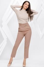 Pantaloni Ellen nude cu accesorii pe talie