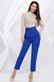 Pantaloni Ellen albastri cu accesorii pe talie