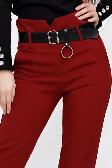 Pantaloni Leia bordo cu centura neagra