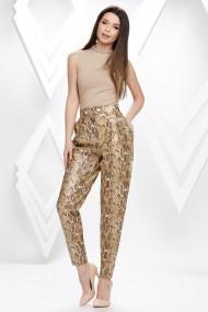Pantaloni Vanessa imprimeu sarpe cu efect de piele
