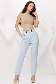 Pantaloni Nyla bleu cu nasturi decorativi