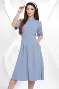 Rochie Cadence bleu pastel din crep cu cordon maxi