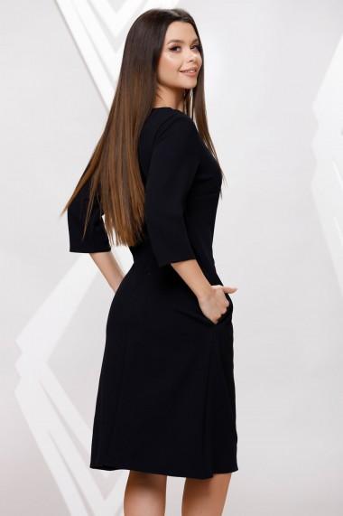 Rochie de zi midi Ejolie neagra