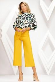 Pantaloni Celine galbeni tip culotte