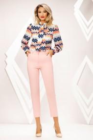 Pantaloni Elah roz deschis